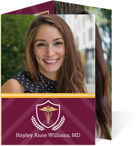 Maroon and Gold Medical School Graduation Announcement
