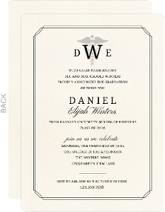 Formal Double Frame Medical School Graduation Invitation