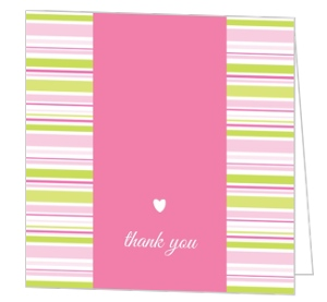 Pink Onesie Baby Shower Thank You Card