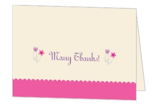 Baby Safety Pins Baby Shower Thank You Card