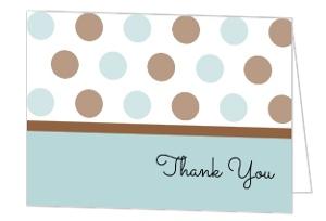 It S A Boy Polka Dot Baby Thank You Card