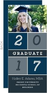 Colorblock Graduate School Graduation Announcement