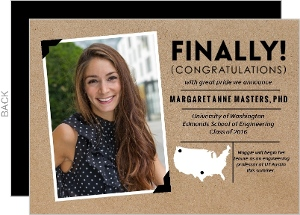 Kraft Polaroid Graduate School Graduation Announcement