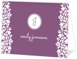 Purple Sophisticated Thank You Card