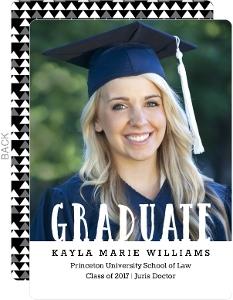 Patterned Graduate Law School Graduation Announcement
