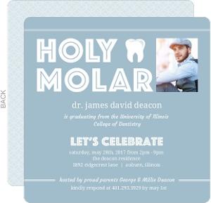 Holy Molar Dental School Graduation Invitation
