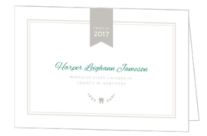 Preppy Chic Dental School Graduation Invitation