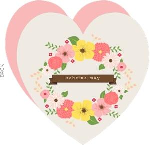Floral Heart Adoption Announcement