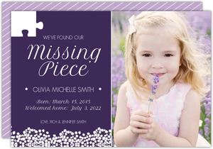Missing Piece Adoption Announcement