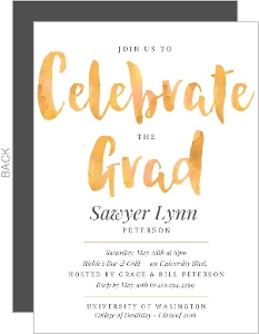 Bold Watercolor Dental School Graduation Invitation