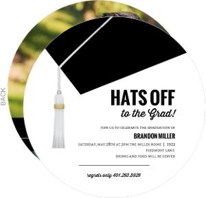Hats Off Dental School Graduation Invitation