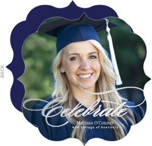 Formal Silver Foil Celebrate Dental School Graduation Invitation