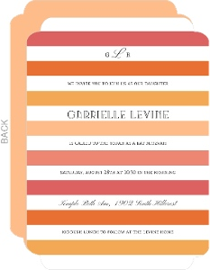 Ombre Stripes Bat Mitzvah Invitation