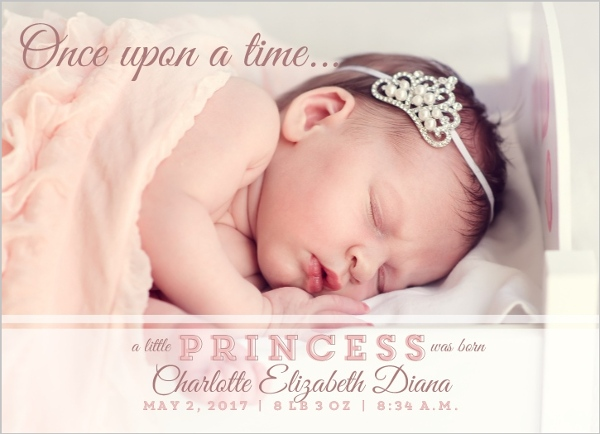 Little Princess Birth Announcement | Baby Girl Announcements