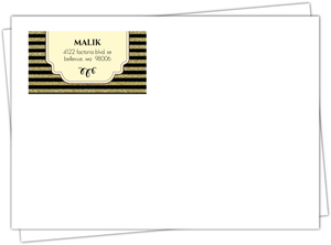 Gold Glitter Art Deco Custom Envelope
