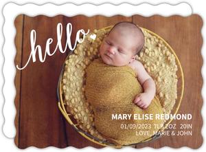 Hello Photo Girl Birth Announcement