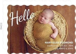 Hello Photo Girl Birth Announcement