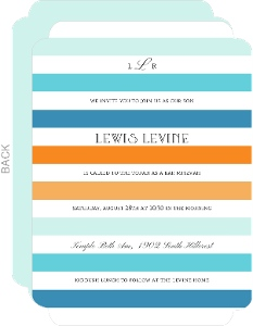 Ombre Stripes Bar Mitzvah Invitation