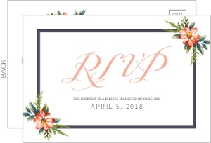 Delicate Watercolor Floral Wedding Response Card