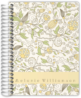 Whimsical Yellow Floral Planner