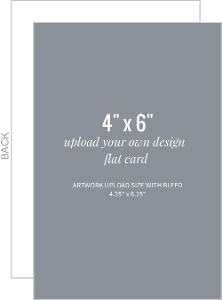 Upload Your Own Design 4x6 Flat Card