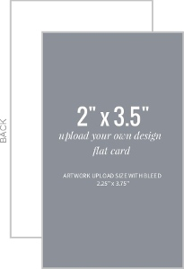 Upload Your Own Design 2x3.5 Flat Card