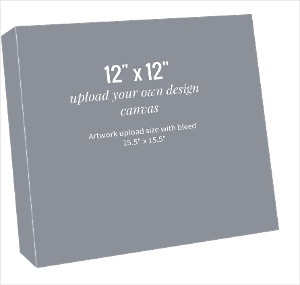 Upload Your Own Design 12x12 Canvas