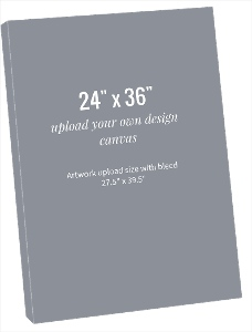 Upload Your Own Design 24x36 Canvas