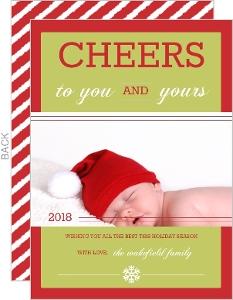 Big Holiday Cheer  Holiday Photo Card