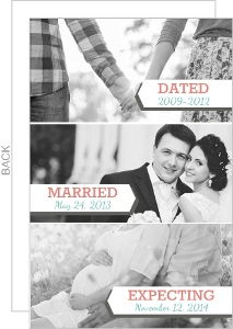 White And Gray Banner Timeline Pregnancy Announcement