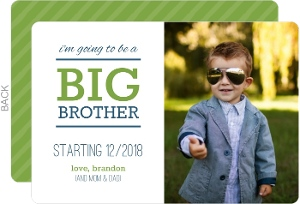 Green and Blue Big Brother Pregnancy Announcement