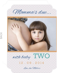 Momma S Due With Baby Two Pregnancy Announcement