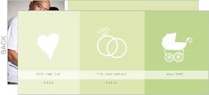 Green Inforgraphic Pregnancy Announcement
