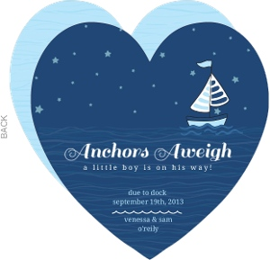 Anchors Away Nighttime Nautical Pregnancy Annoucement