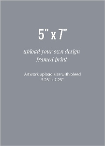 Upload Your Own Design 5x7 Framed Print