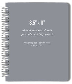 Upload Your Own Design 8.5x11 Soft Cover Journal