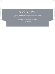 Upload Your Own Design 5.25x5.25 Envelope Liner