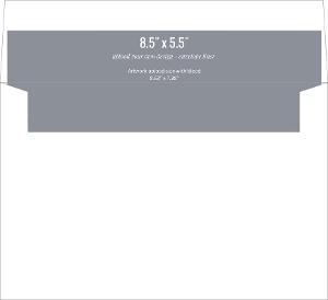 Upload Your Own Design 8.5x5.5 Envelope Liner