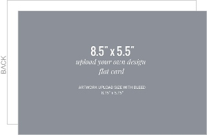 Upload Your Own Design 8.5x5.5 Flat Card