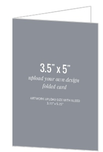 Upload Your Own Design 3.5x5 Folded Card