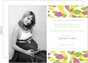 Baby On The Way Flower Pregnancy Announcement