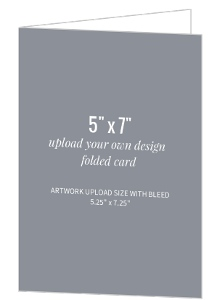 Upload Your Own Design 5x7 Folded Card