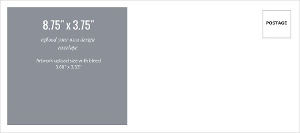 Upload Your Own Design 8.75x3.75 Envelope