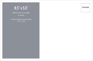 Upload Your Own Design 8.5x5.5 Envelope