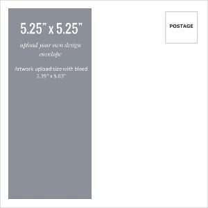 Upload Your Own Design 5.25x5.25 Envelope