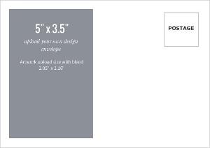 Upload Your Own Design 5x3.5 Envelope