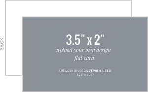 Upload Your Own Design 3.5x2 Flat Card
