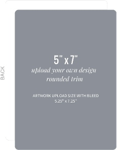Upload Your Own Design 5x7 Rounded Card