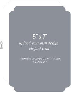 Upload Your Own Design 5x7 Elegant Card
