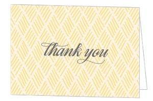Yellow Geometric Pattern Thank You Card